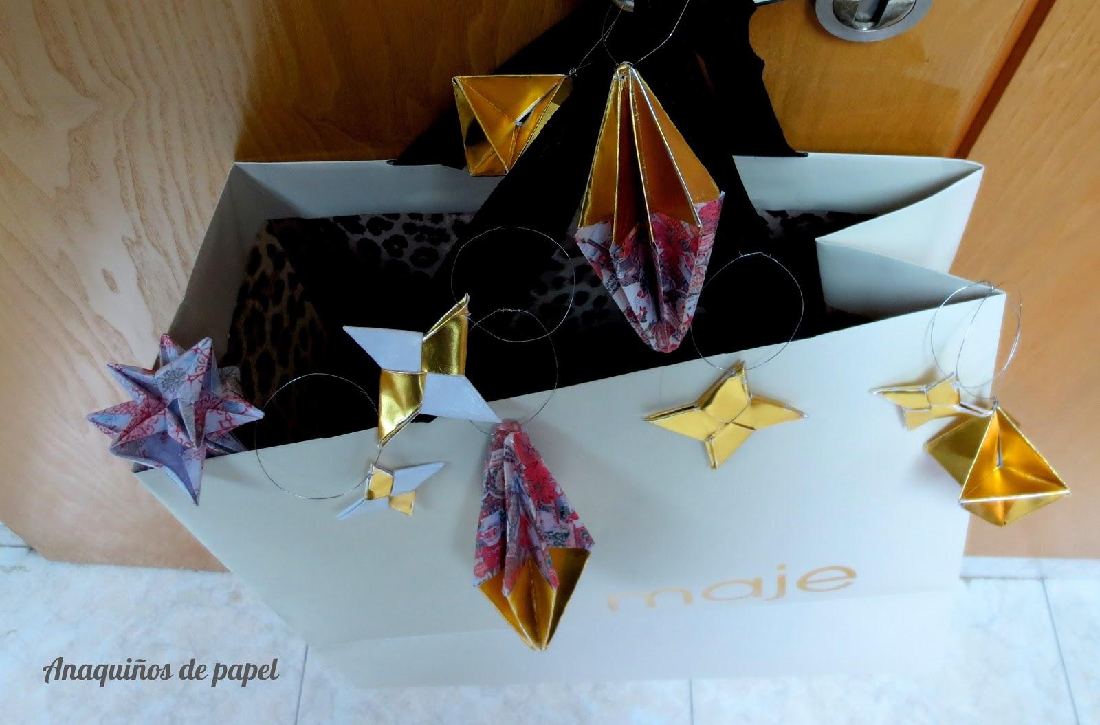 Anaqui os de papel adornos navide os - Adornos navidenos papel ...