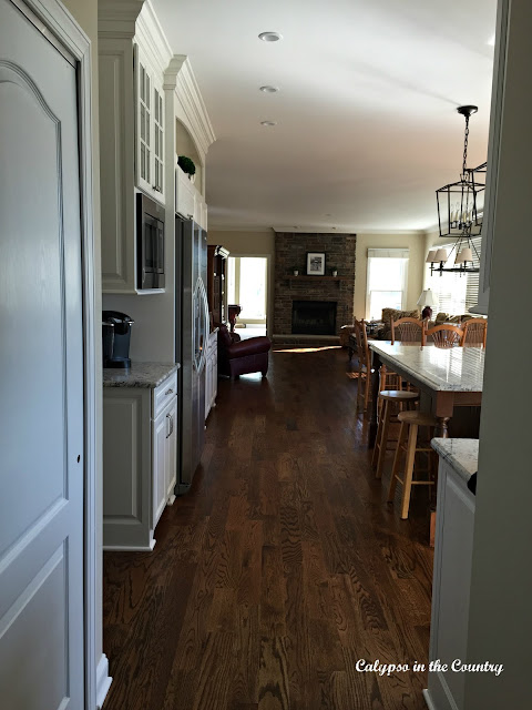 New White Kitchen with Wood Floors