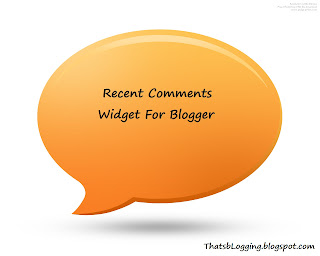 Beautiful Recent Comments Widget For Blogger