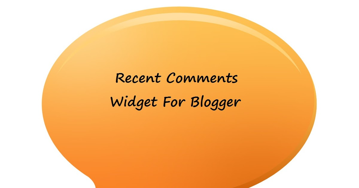 recent comments blogger