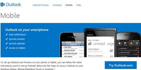 abrir correo Outlook Smartphones