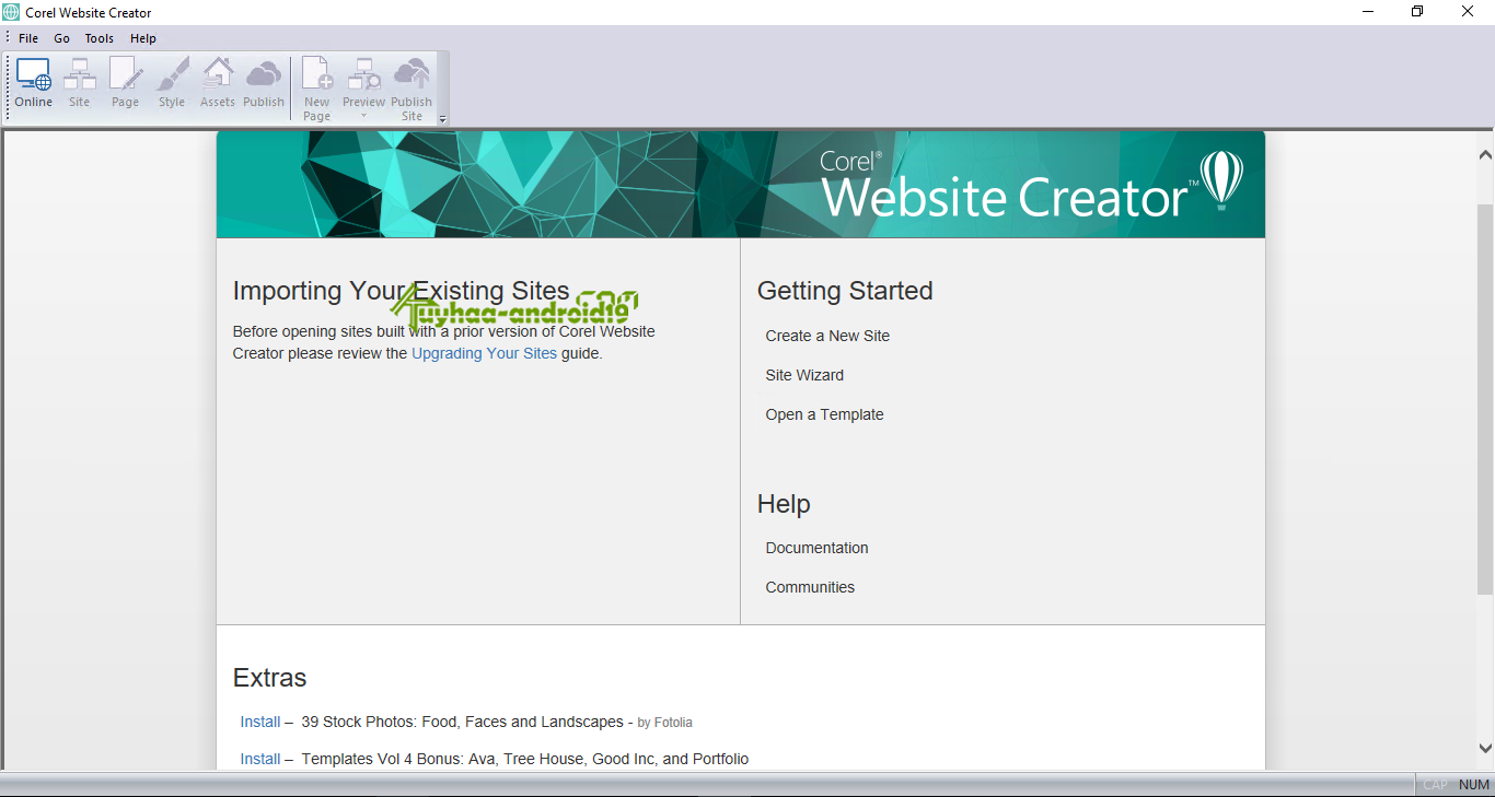 Corel Website Creator kuyhaa