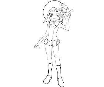 #10 Kotori Mizuki Coloring Page