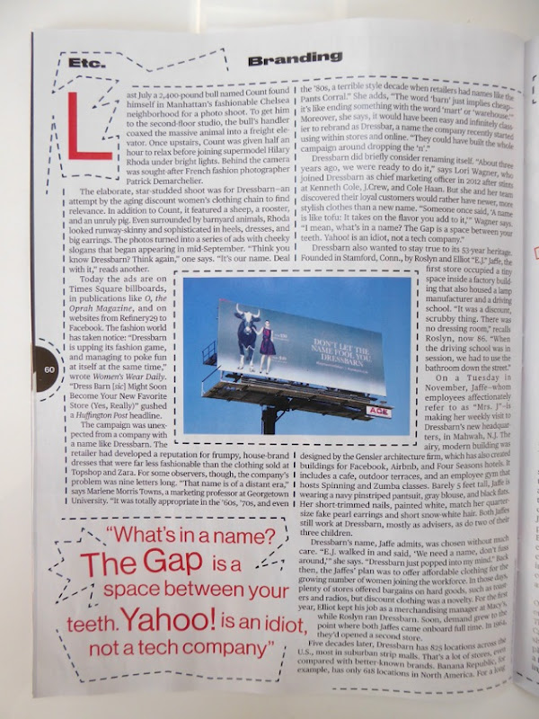 Bloomberg Businessweek Dressbarn article