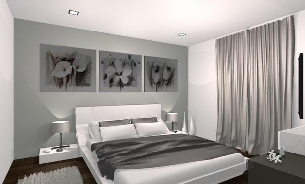 Petite Chambre A Coucher Design. Trendy Petit Bureau En Gris Et ...