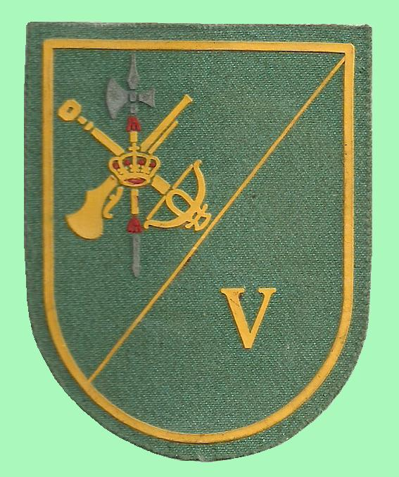 v bandera de la legion: