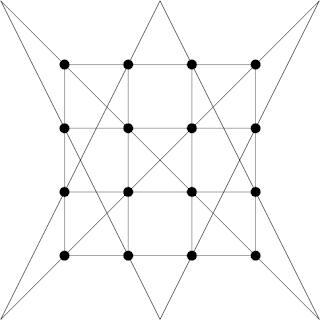 Как соединить 16 точек 6 линиями