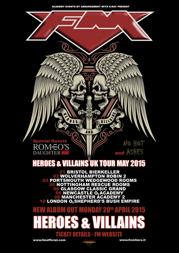 FM Heroes & Villains Tour May 2015 poster