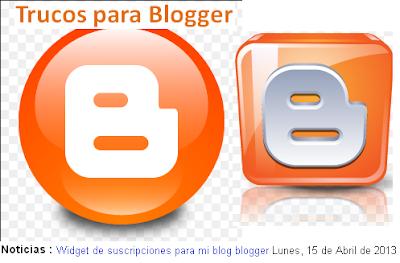 Trucos para blogger