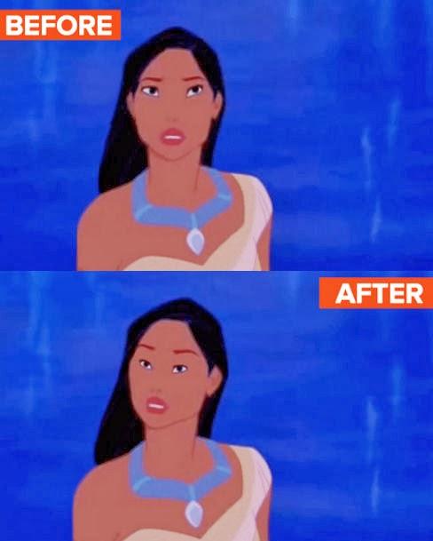 Disney Princess With Normal Eyes