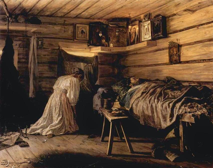 Максимов Василий Максимович. Больной муж. 1881 год
