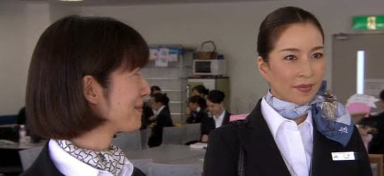 Nagano and Mikami in the operation office.