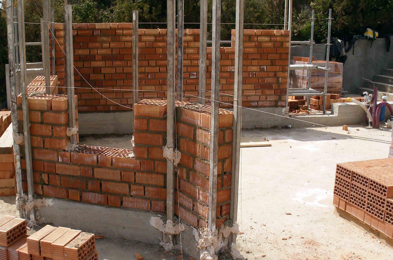 Construyendo la casa bioclim tica 12 construcci n 4a - Como revocar una pared de ladrillo hueco ...