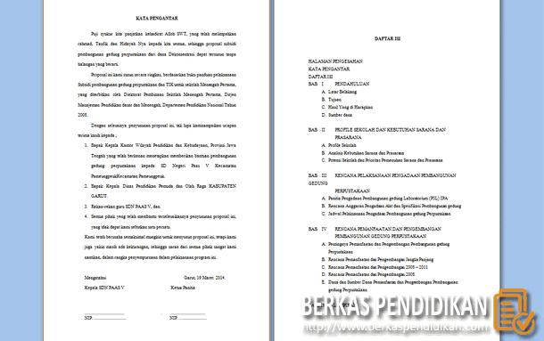 Proposal Pembangunan Gedung Perpustakaan Sekolah Melalui Program Subsidi Pembangunan RKB-RBL