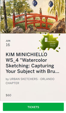"Kim Minichiello ""WatercolorSketching."""