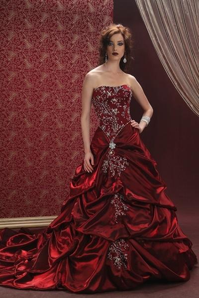 Vestidos de Noiva de luxo vermelho