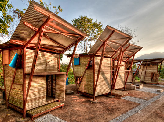 bamboo housing Beijing and vienna-based architecture studio penda wants to use bamboo to  build modular, sustainable housing systems that could house up.