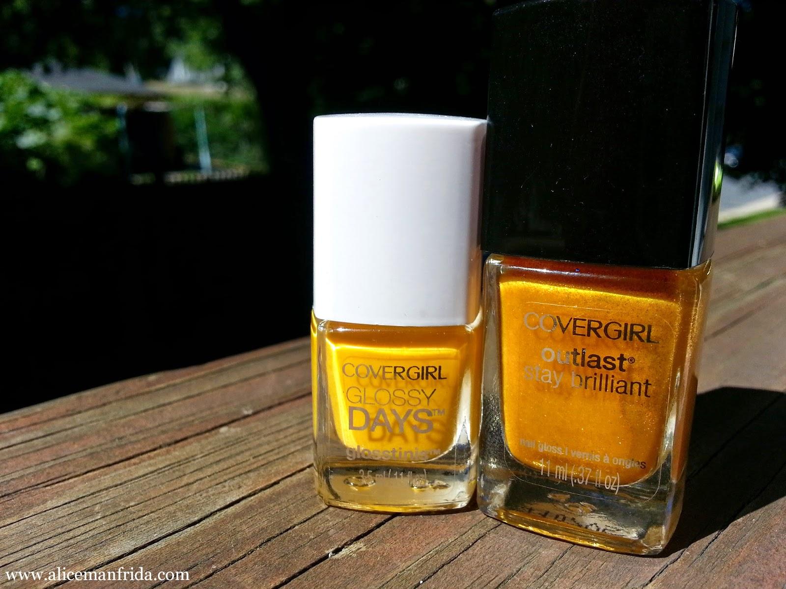glosstinis, yellow nailpolish