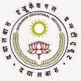 Faculty Posts at The Dayalbagh Educational Institute (DEI) (Deemed University) Dayalbagh, Agra Recruitment 2015