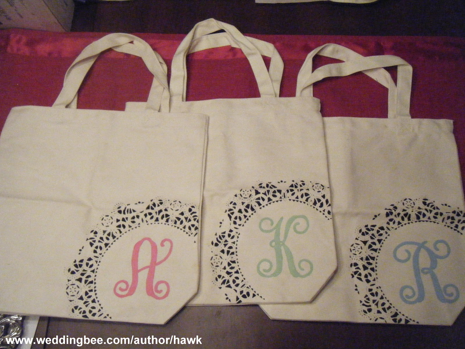 Gifting the Bridesmaids: DIY Monogram Totes - Weddingbee