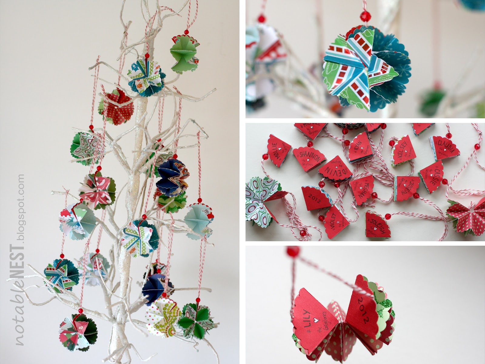 Christmas Decorations Diy With Paper : Notable nest foldable christmas ornaments