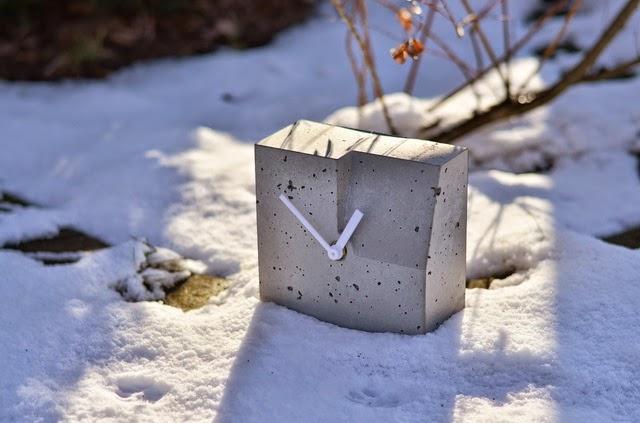 Zegar betonowy - szary, nowoczesny, prosty