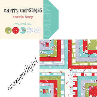 Moda CHERRY CHRISTMAS Fabric by Aneela Hoey