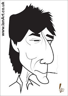 Ronnie Wood Caricature