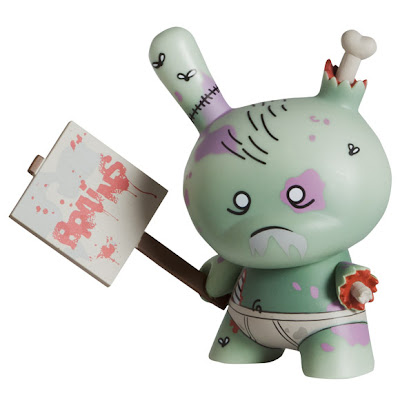 Kidrobot Dunny Series 2011 - Standard Zombie Dunny Colorway by Huck Gee