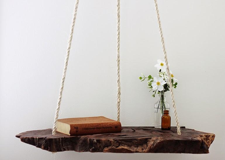 home garden diy la table de chevet suspendue. Black Bedroom Furniture Sets. Home Design Ideas