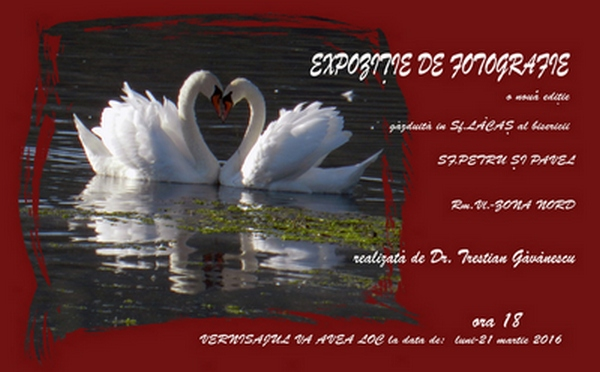 EXPOZȚIE DE FOTOGRAFIE DR. TRESTIAN GĂVĂNESCU  21.03.2016 Biserica Sf. Petru și Pavel Rm. Vâlcea