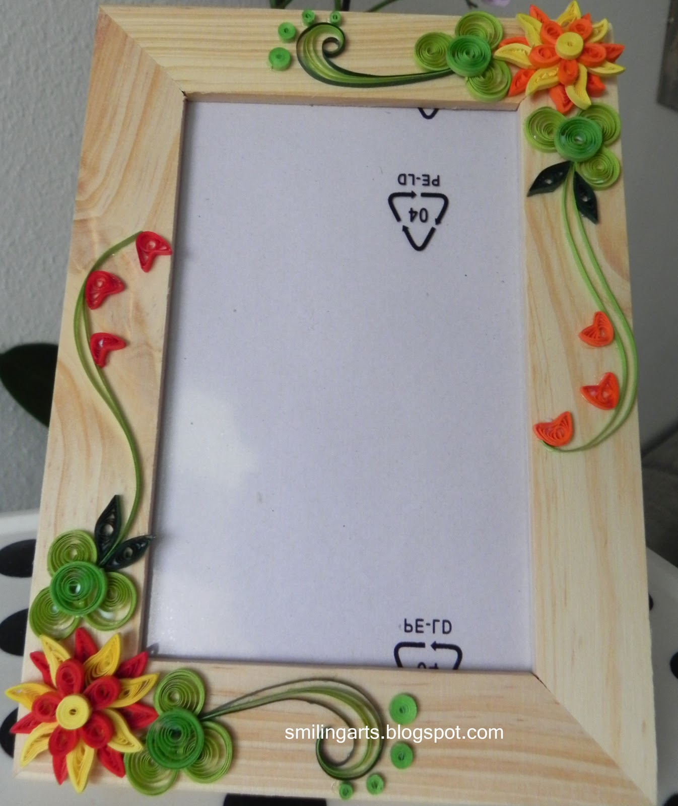 Quilling Home Decor Smilingarts Frame With Quilled Design