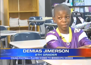 Demias Jimerson Vikings running back - image from Fox 16