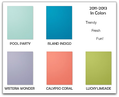New Stampin' Up! In Color Swatches