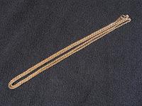 中古 ネックレス K18 喜平2面 69㎝ 11.5g