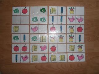 Kurma kartları karışık görüntüsü eşleştirme kartları