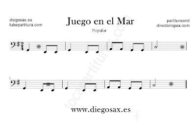 Juego en el Mar partitura de Trombón, Tuba, Violonchelo, Fagot, Bombardino en Clave de Fa