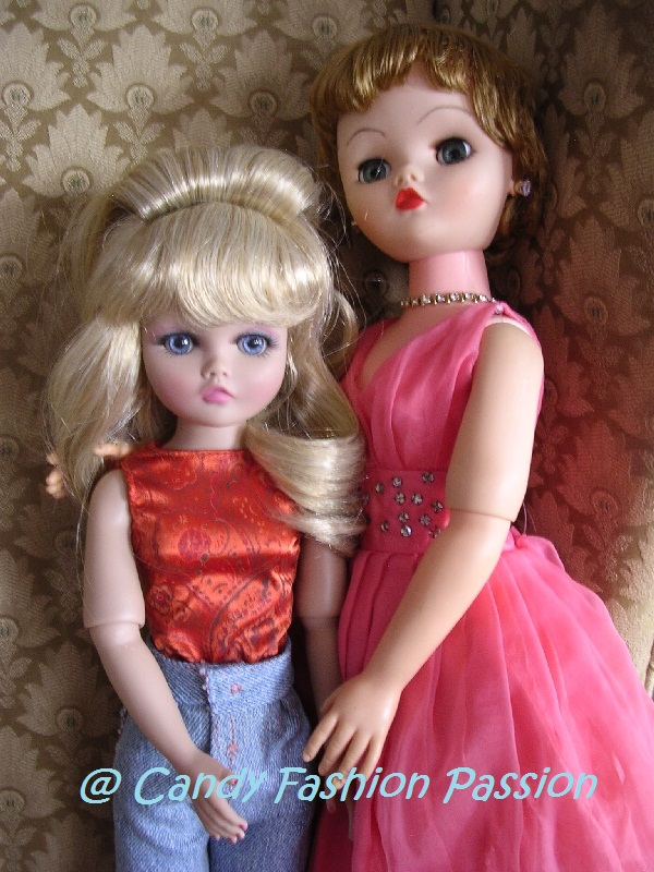 Original Candy Fashion Doll between the original and