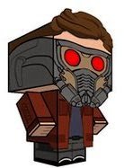 Guardians Of The Galaxy Papercraft Star-Lord Cubeecraft