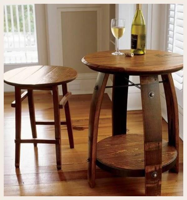 De barril de vino a mesa auxiliar Dependiendo del corte que demos