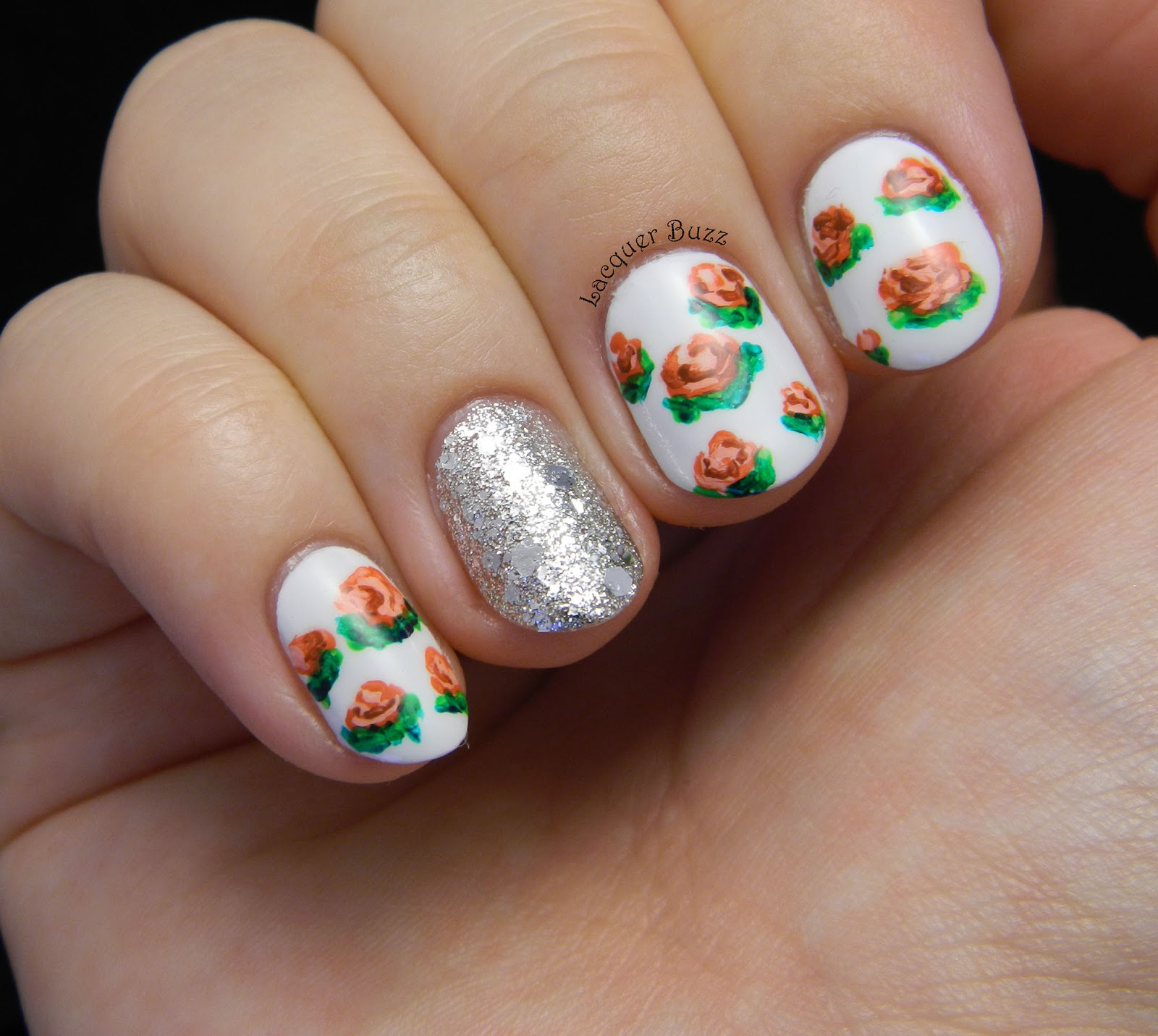 lacquer buzz alphabet nail art challenge letter r and a mani swap