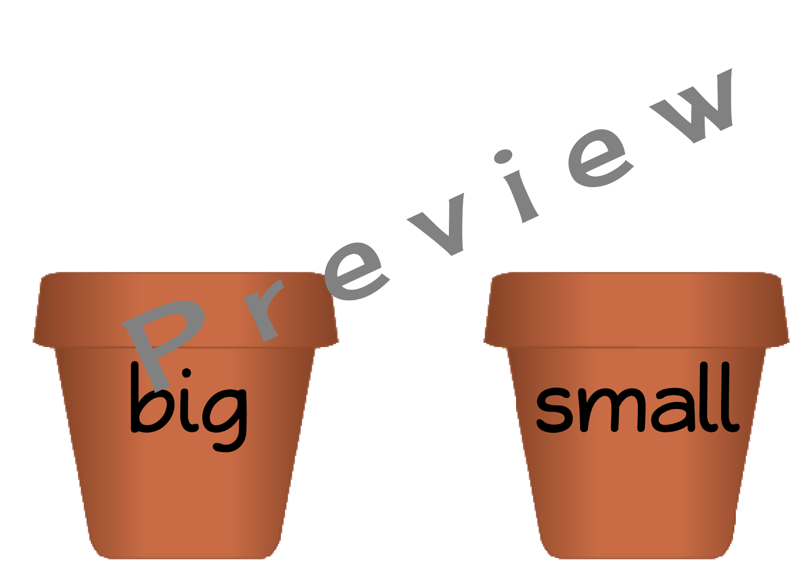 For each flowerpot, there are four flowers with less common synonyms: