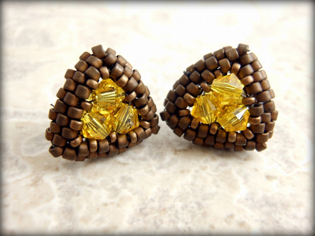 Swarovski yellow studs