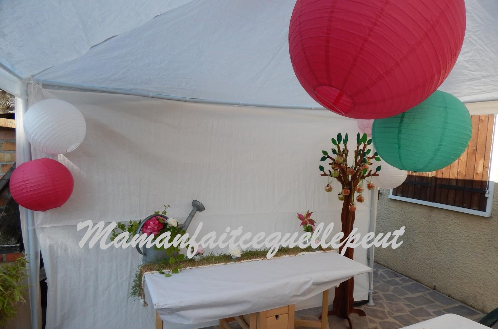 Mamanfaitcequellepeut for Decoration jardin bapteme