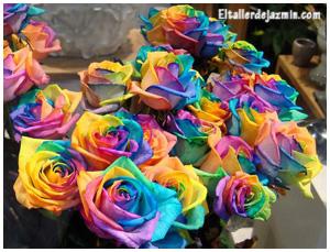 Teñir flores y hojas naturales y secas