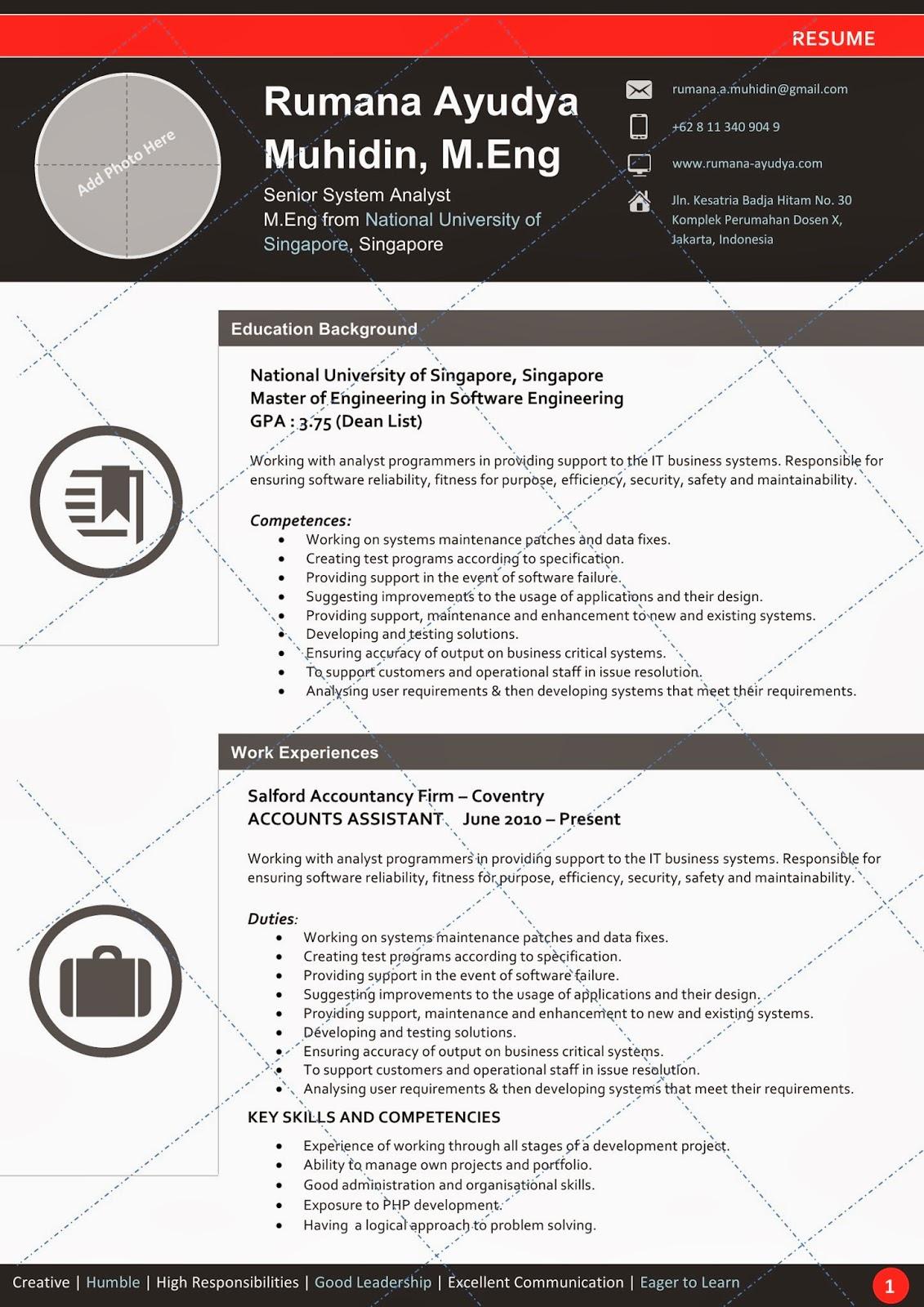 desain cv kreatif  redblack   resume template