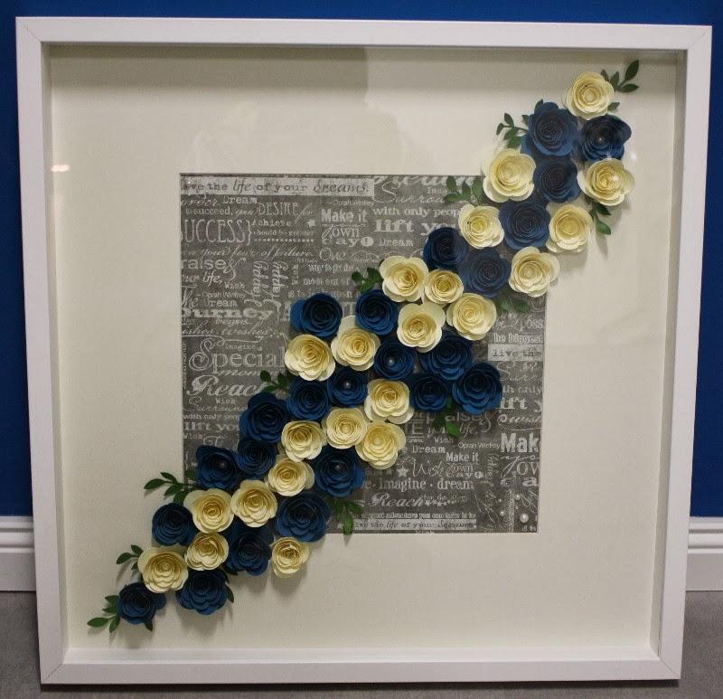 Der kleine Stempelgarten: Rosen Bilderrahmen