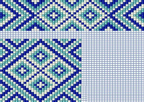 Схемы герданов  split loom necklace pattern