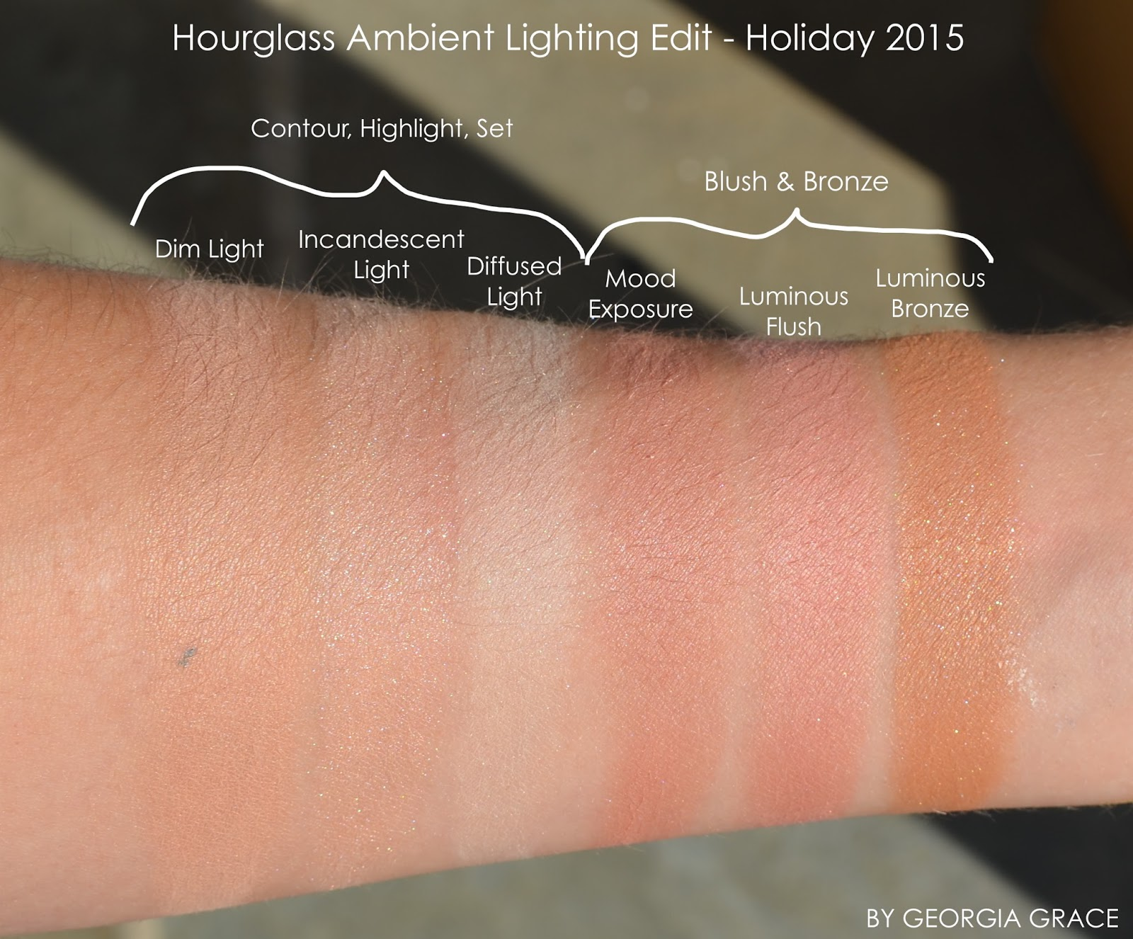 Hourglass Ambient Lighting Edit Palette Review And Swatches Design