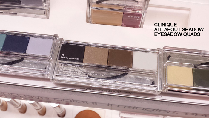 Clinique All About Shadow Eyeshadow Quads - Photos, Swatches